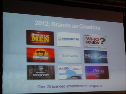 Brands as Creators Yahoo