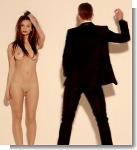 Product Placement Robin Thicke -- Blurred Lines Nude Version
